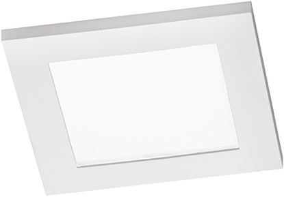 Berla LED Inbouwspot IP44 vierkant Vlak BR1400 GU10 wit
