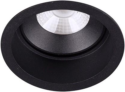 Berla LED Inbouwspot IP44 Rond Verdiept BR6020B-D Kantelbaar 7W 2700K zwart - dimbaar