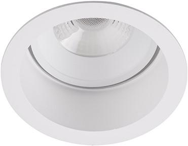 Berla LED Inbouwspot IP44 Rond Verdiept BR6020W-D Kantelbaar 7W 2700K wit - dimbaar