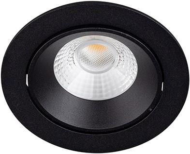 Berla LED Inbouwspot IP44 Rond Verdiept BR6108B-D Kantelbaar 7W 2700K zwart - dimbaar