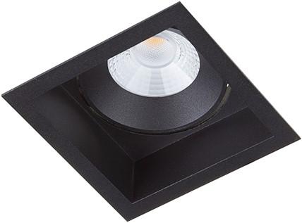 Berla LED Inbouwspot IP44 vierkant Verdiept BR6215B-D Kantelbaar 7W 2700K zwart - dimbaar
