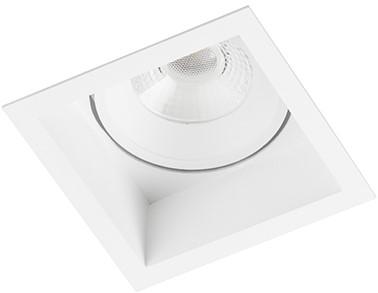 Berla LED Inbouwspot IP44 vierkant Verdiept BR6215W-D Kantelbaar 7W 2700K wit - dimbaar