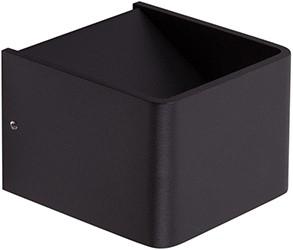 Berla LED Wandlamp Binnen Up/down BW0007B 3W 2700K vierkant zwart
