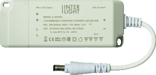 Interlight LED Downlight EasyFit LED Driver Dimbaar 15W 230V/400mA