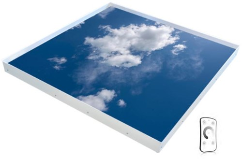 Interlight LED Paneel 120x120cm Active Sky Wolken 30W 3000K-6500K max. 2850lm Incl. Afstandsbediening Dimbaar