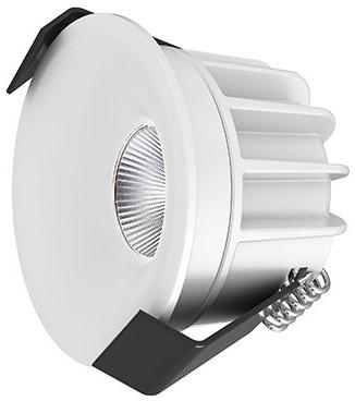 Interlight LED Inbouwspot Camicro IP44 Rond 4W CTA 2200-2700K CRI>95 45D 220lm Wit Ø50 Buitenmaat - Gatmaat Ø44 - Dimbaar
