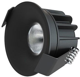 Interlight LED Inbouwspot Camicro IP44 Rond 4W CTA 2200-2700K CRI>95 45D 220lm Zwart Ø50 Buitenmaat - Gatmaat Ø44 - Dimbaar