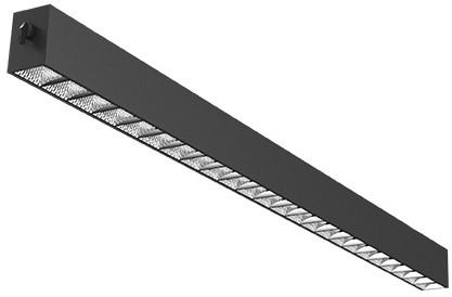 Interlight LED Pendelarmatuur Orion Linear Up/Down 29W 3000K 85D 3000lm Zwart UGR<19 - Dimbaar