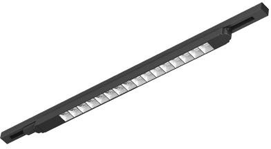 Interlight LED 3-Fase Track L/R Orion 55W 3000K CRI>80 5550lm Zwart
