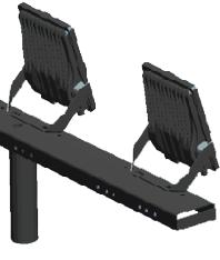 Pragmalux LED Floodlight Auva IP66 2-Voudig Bevestigingsbeugel paal Ø60