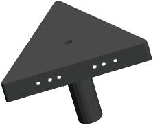 Pragmalux LED Floodlight Auva IP66 3-Voudig Bevestigingsbeugel paal Ø60