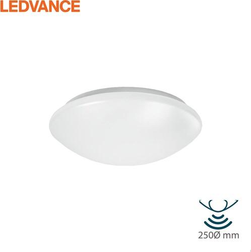 Ledvance LED Plafonnière / Wandarmatuur SF CIRCULAR 250 IP44 13W 3000K 960lm +Bewegingssensor (1x18W)