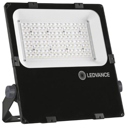 Ledvance Breedstraler Performance IP66 100W 3000K 11900lm Zwart - Asymmetrisch 55x110 (250W)