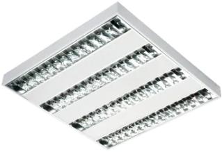 Pragmalux LED Opbouwarmatuur Miro 60x60cm 34W 4350lm 3000K UGR<16 Hoogglans