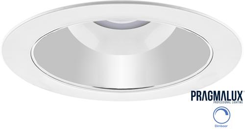 Pragmalux LED Downlight Spectre SR IP54 25W 3000K-5700K 3-CCT 2500-2750lm Ø228 Buitenmaat - Gatmaat Ø200-210 + Fase Dimbare Driver (2x26W)