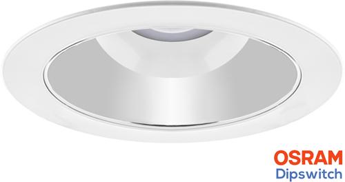 Pragmalux LED Downlight Spectre SR IP54 10-20W 3000K-5700K 3-CCT 1150-2300lm Ø228 Buitenmaat - Gatmaat Ø200-210 +Osram Driver (2x26W)
