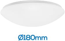 Pragmalux LED Plafonnière / Wandarmatuur Polo IP44 8W 4000K 700lm Ø180 (1x18W)