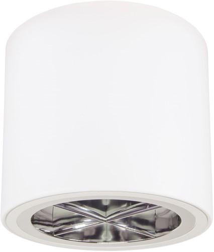 Pragmalux LED Opbouw Downlight Mado 205 Kruis rooster IP40 18W 3000K 2015lm Ø205 Buitenmaat - Hoogte Ø190 UGR<17
