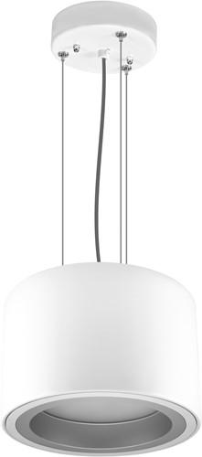 Pragmalux LED Pendel Downlight Mado 205 Mat IP40 25W 4000K 3100lm Ø205 Buitenmaat - Hoogte Ø190 UGR<18