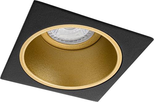 Pragmalux Inbouwspot Mido Vierkant Zwart/Goud - Incl. GU10 Fitting