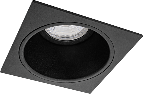 Pragmalux Inbouwspot Mido Vierkant Zwart - Incl. GU10 Fitting
