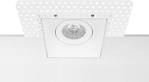 Pragmalux Inbouwspot Navis Trimless Vierkant Kantelbaar Wit - Incl. GU10 Fitting