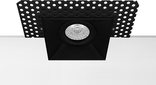 Pragmalux Inbouwspot Navis Trimless Vierkant Kantelbaar Zwart - Incl. GU10 Fitting