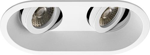 Pragmalux Inbouwspot Zena Rond 2V Kantelbaar Wit - Incl. GU10 Fitting