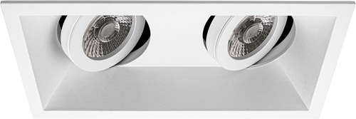 Pragmalux Inbouwspot Zena Vierkant 2V Kantelbaar Wit - Incl. GU10 Fitting