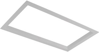Pragmalux LED Inbouwspot Squadro 2V Grijs Ø215x390 Buitenmaat - Gatmaat Ø205x370