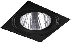 Pragmalux LED Inbouwspot Squadro LED Module Incl. Driver 42W 3000K CRI>90 PW 38D 5300lm Zwart