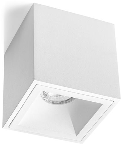 Pragmalux Opbouwspot Cinto Vierkant Wit - Incl. GU10 Fitting