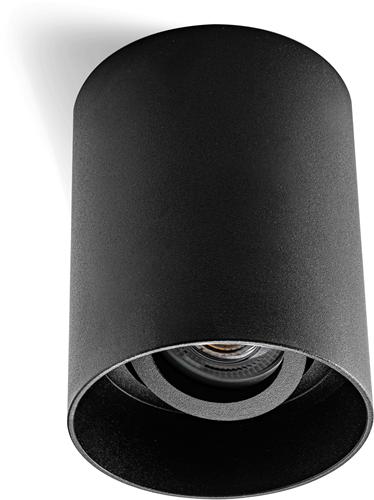 Pragmalux Opbouwspot Luxo Rond Kantelbaar Zwart - Incl. GU10 Fitting