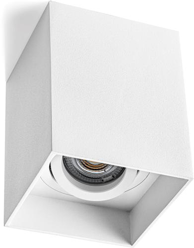 Pragmalux Opbouwspot Luxo Vierkant Kantelbaar Wit - Incl. GU10 Fitting