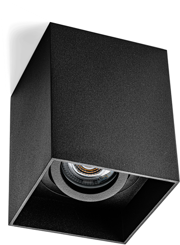 Pragmalux Opbouwspot Luxo Vierkant Kantelbaar Zwart - Incl. GU10 Fitting