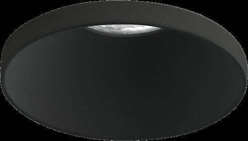 Pragmalux LED Inbouwspot Vita IP44 12W 2700K CRI>90 38D 650lm Zwart Ø82 Buitenmaat - Gatmaat Ø75 - Dimbaar