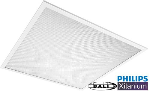 Pragmalux LED Paneel 60x60cm Essence G2 33W 4000K 4125lm UGR<19 +Philips Dali (4x14W)