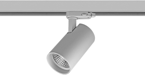 Pragmalux LED 3-Fase Railspot Piccolo 27W 3000K CRI>90 40D 2902lm Grijs - Fase Dimbaar