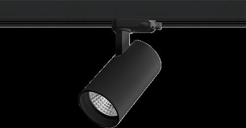 Pragmalux LED 3-Fase Railspot Piccolo 27W 2700K CRI>90 40D 2786lm Zwart - Fase Dimbaar