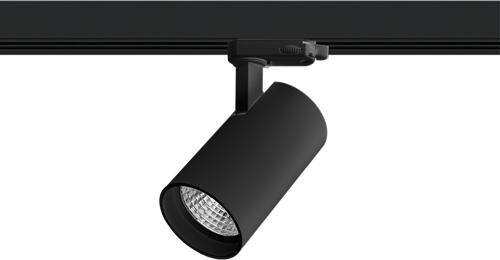 Pragmalux LED 3-Fase Railspot Piccolo 15W 4000K CRI>90 33D 1561lm Zwart - Fase Dimbaar