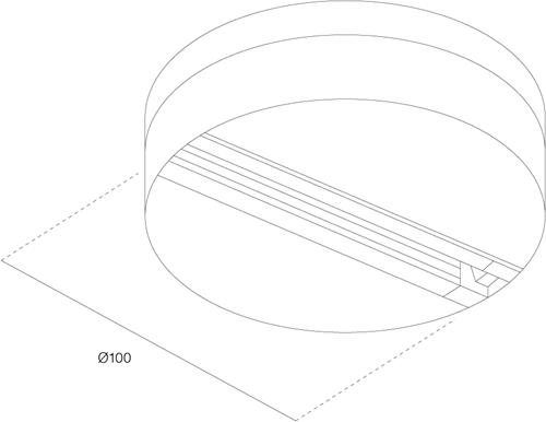 Monopoint voor 3-fase adaptor zwart