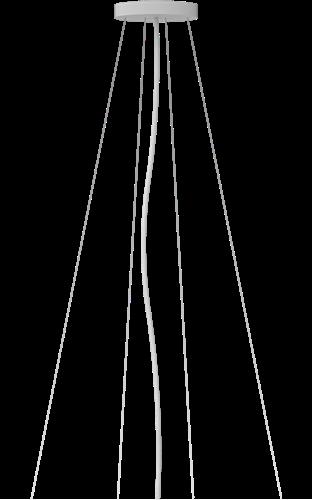 Pragmalux LED Opbouw-/pendelarmatuur Zalo Ø480mm & Ø600mm Pendelset Wit