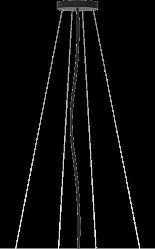 Pragmalux LED Opbouw-/pendelarmatuur Zalo Ø1200mm Pendelset Zwart