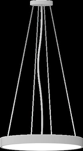 Pragmalux LED Opbouw-/pendelarmatuur Zalo Ø480mm 40W 3000K/3500K/4000K 3330lm/3480lm/3510lm Grijs - DALI