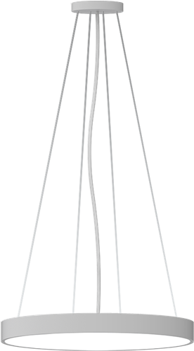 Pragmalux LED Opbouw-/pendelarmatuur Zalo Ø600mm 57W 3000K/3500K/4000K 5220lm/5540lm/5575lm Grijs - DALI