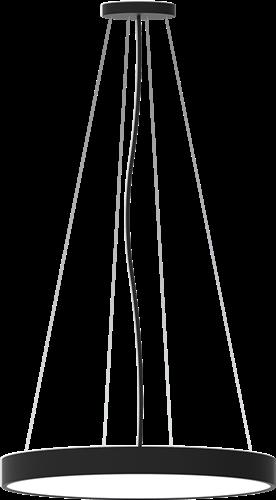 Pragmalux LED Opbouw-/pendelarmatuur Zalo Ø480mm 40W 3000K/3500K/4000K 3330lm/3480lm/3510lm Zwart - DALI